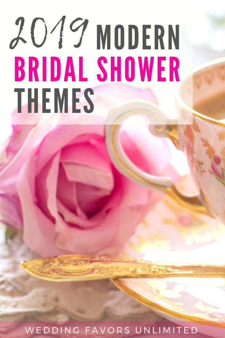 2019 Modern Bridal Shower Themes