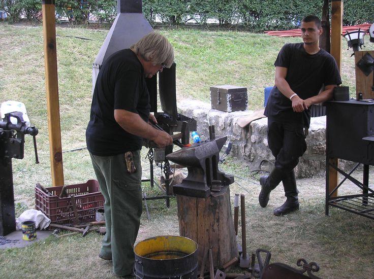 Iron monger at work