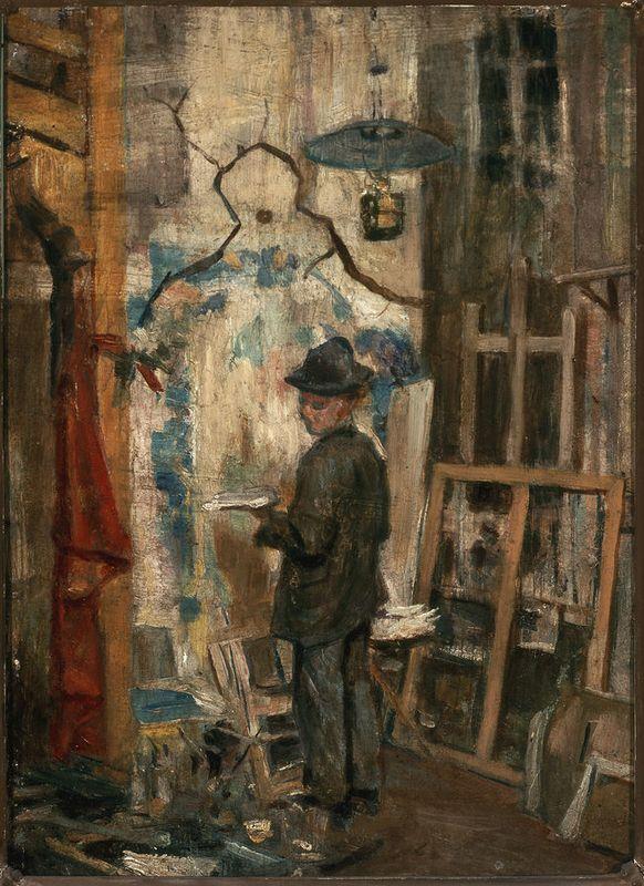 Józef Mehoffer w pracowni, Stanisław Wyspiański