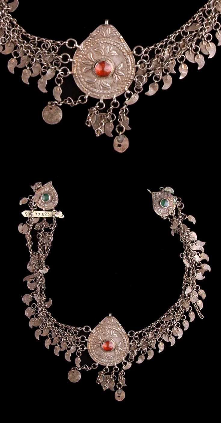 Turkey - Bursa   Woman's headdress ornament; silver and glass. // ©Quai Branly Museum. 71.1973.77.623