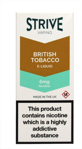 Strive Vaping British Tobacco 6mg Nicotine Strive Vaping British Tobacco 6mg Nicotine E-Liquid - 10ml: Express Chemist offer fast delivery and friendly, reliable service. Buy Strive Vaping British Tobacco 6mg Nicotine E-Liquid - 10ml online fr http://www.MightGet.com/may-2017-1/strive-vaping-british-tobacco-6mg-nicotine.asp