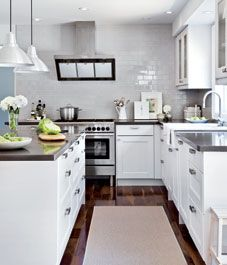 Kitchen backsplash, island and large sink - Style At Home