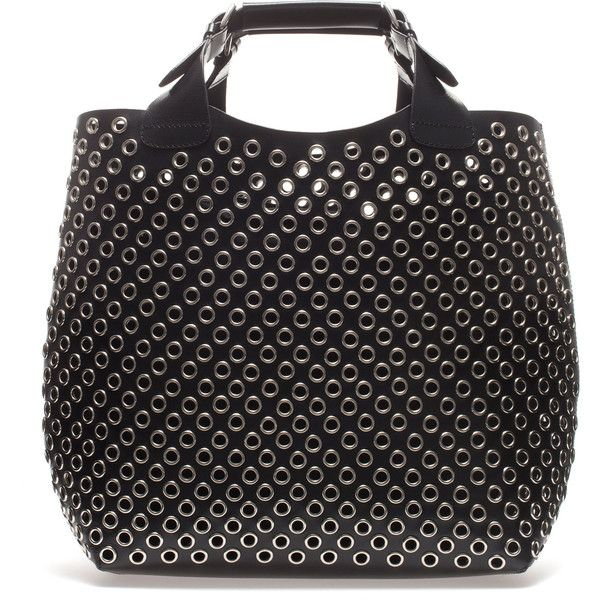 Zara Cut Work Tote Bag (170 CAD) ❤ liked on Polyvore featuring bags, handbags, tote bags, zara, purses, totes, black, cotton tote, man tote bag and zara tote bag