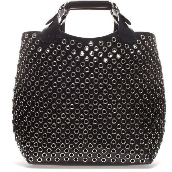 Zara Cut Work Tote Bag (£130) found on Polyvore
