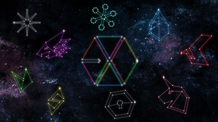 EXO CONSTELLATION PC WALLPAPER (© exoslotto) •do not edit•   insta : ohsorryprue / spam - pruesorryoh   hi feel free to use my creation and give me feedback on how it is :) if you want your personal wallpaper , please ask me if you want but i am still practicing on my creativity because i suck at being creative haha . please go message me here or on instagram if you will !