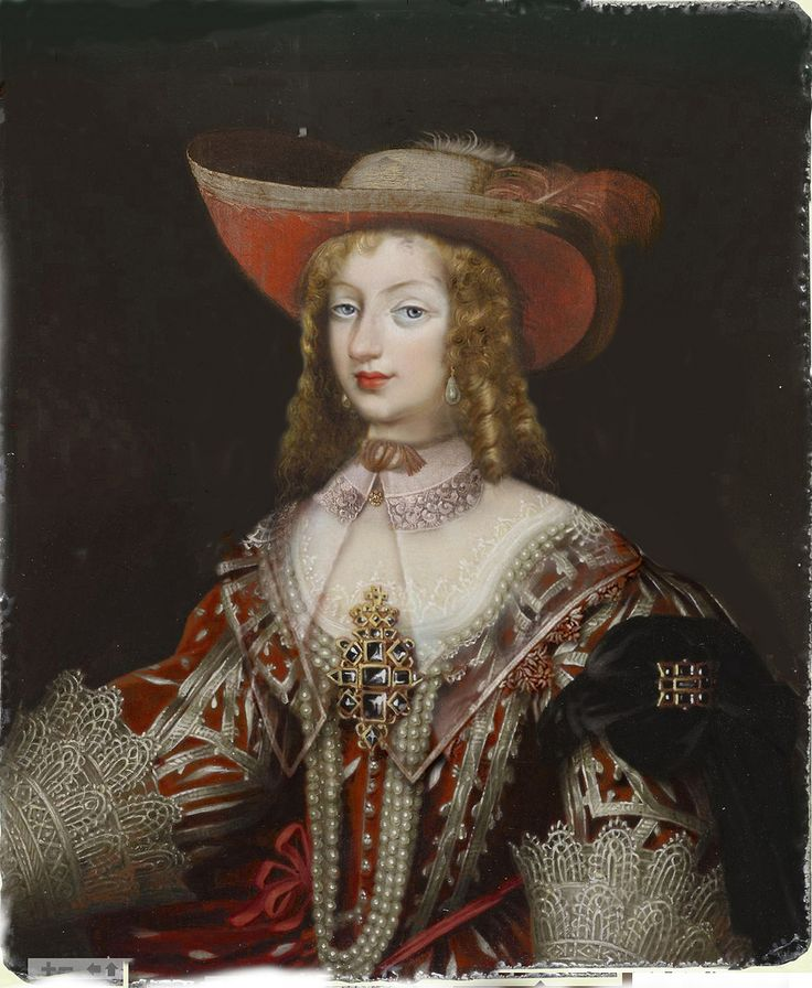 Christine Marie of France (1606-1663)  she was the third child and second daughter of King Henry IV of France and his second wife, the Italian Marie de' Medici. As a daughter of the king, she was a Fille de France. She married Victor Amadeus I, Duke of Savoy.