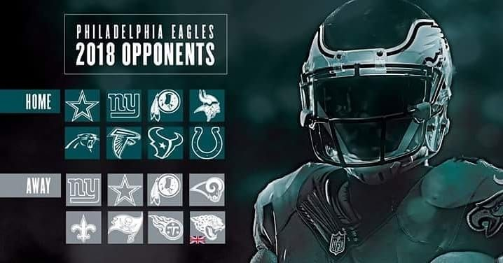 Our 2018/2019 season schedule. Comment below and predict what our record will be next year. I think we will have a 12-4 record. #flyeaglesfly #wentzville Learn more Philadelphia Eagles  https://clssport.com/category/nfl/philadelphia-eagles/ or @eaglesfans247 on Bio #eaglesfans247 #phillyfootball #PhiladelphiaEagles #FlyEaglesFly #EaglesFootball #bleedgreennation #eaglesteam #eaglesclothing