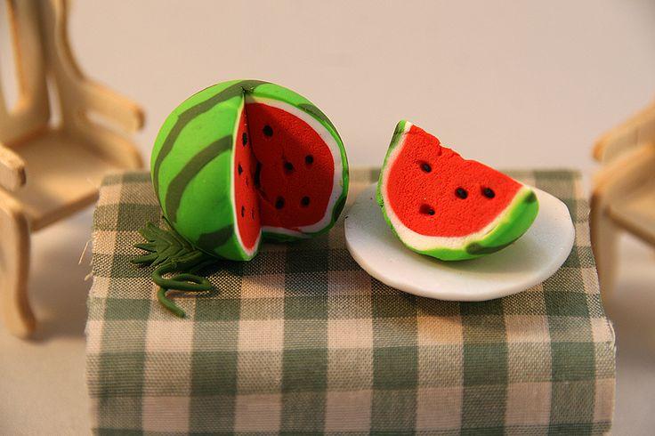 Watermelon - polymer clay