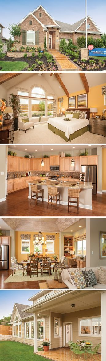 The StoneRidge by David Weekley Homes in Mayfield features a large open kitchen and family room layout, a 3 car garage and a study. Custom home options include an extended covered porch, a second owners retreat and a fireplace in the family room.