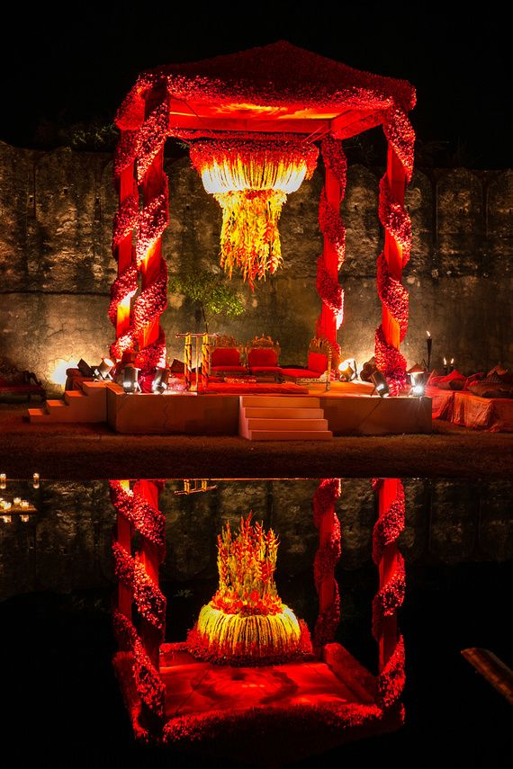 Mandap or the four pillared structure forms the most important part of any Indian Wedding.The four Pillarsis believed tosignify the importance of parents of both the Bride and the Groom. I just l…