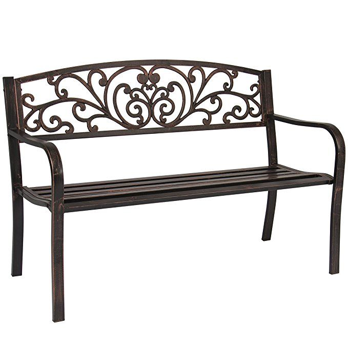 Cute And Inexpensive 50 Inch Garden Bench In Bronze Under 100 Add