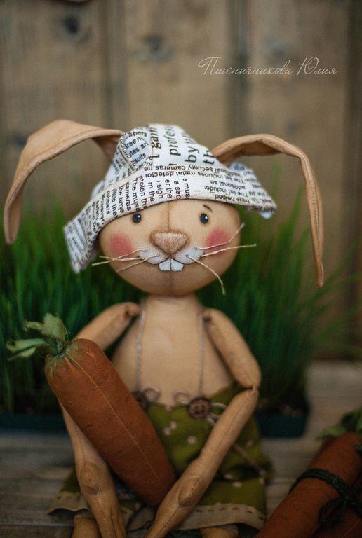 Лукас. - зелёный,заяц,зайка,кофейная игрушка,подарок мужчине,подарок на 8 марта