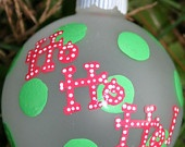 Hand Painted Christmas Ornament - Snow People Family Ornament (made to order). $12.00, via Etsy.