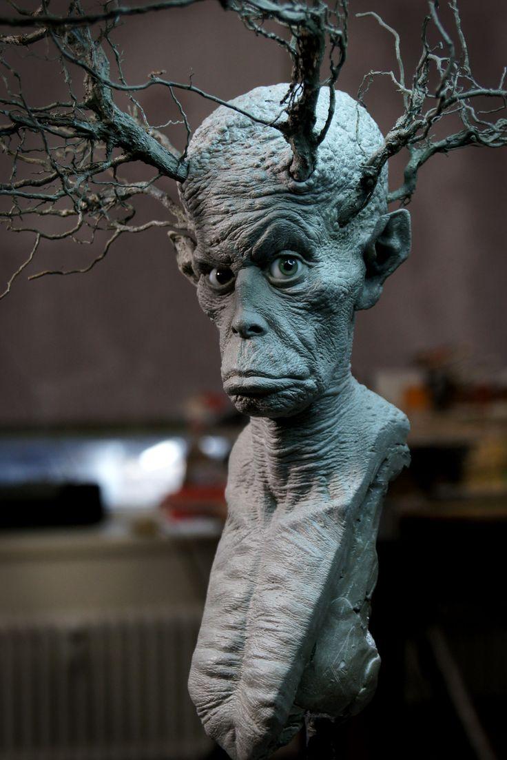 tee-demon sculpture by george steiner, George Steiner on ArtStation at https://www.artstation.com/artwork/m0xOe