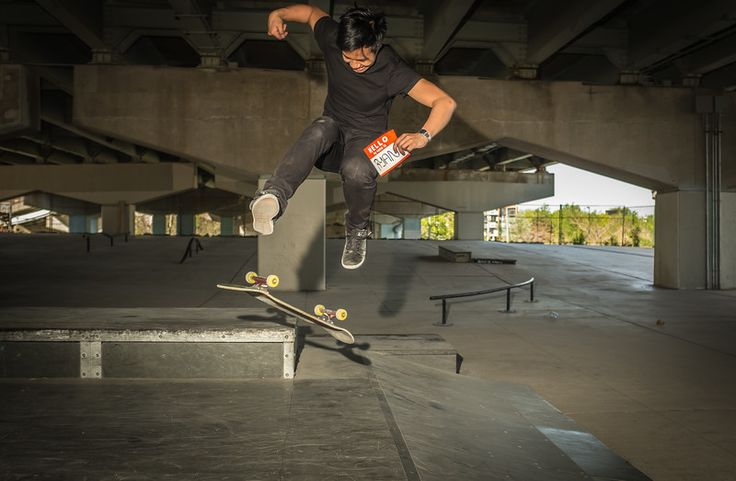 RYAN tries to say Hello and perform a skateboard jump at the same time in Underpass Park. #Hello #Art #PhotoProject #Unite #Portrait #UnderpassPark #WaterfrontToronto #Skateboard #Skater