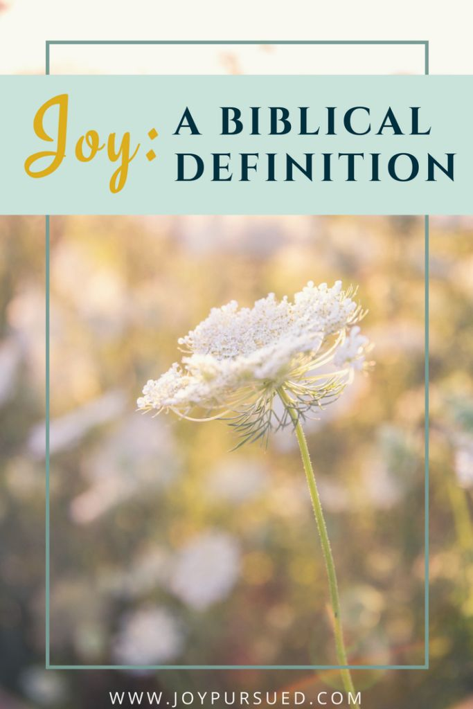 Not clear on the biblical definition of joy? I did the research for you and outline the two main definitions of joy as used in the Bible. Click to read.