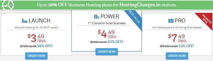 Get exclusive 56% FLAT OFF On Web Hosting Only For HostingCharges.in Users