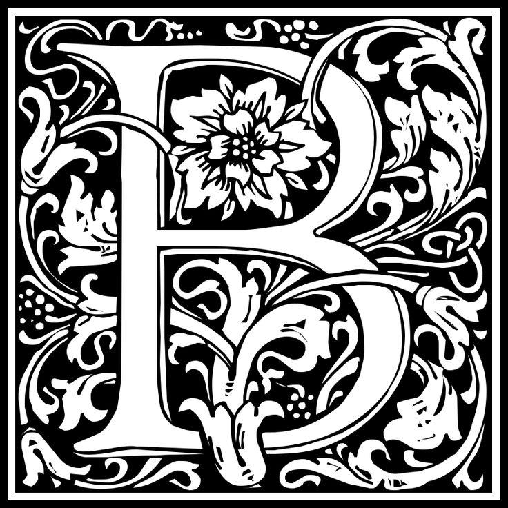 Illuminated Letter B Clipart - william morris <b>letter b</b>