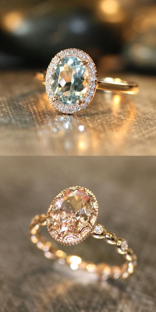 morganite levian engagement weddings diamonds vert chocolate stewart martha colored rings colorful we love peach