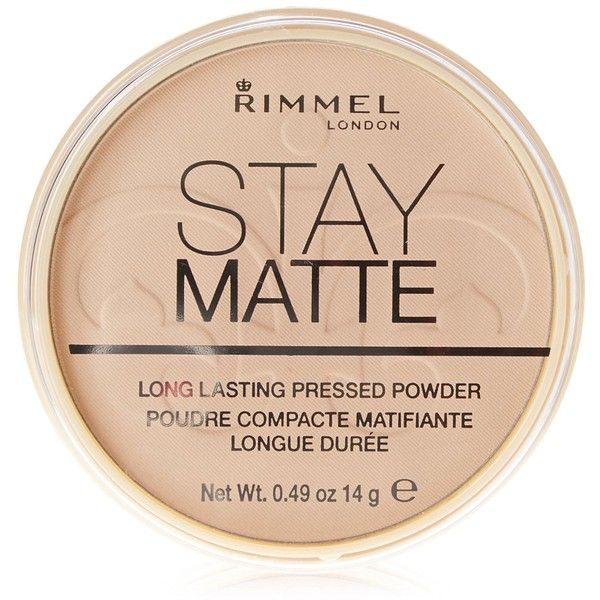 Rimmel London Stay Matte Pressed Powder, Sandstorm 004, 0.49 oz ($17) ❤ liked on Polyvore featuring beauty products, makeup, face makeup, face powder, compact face powder and rimmel