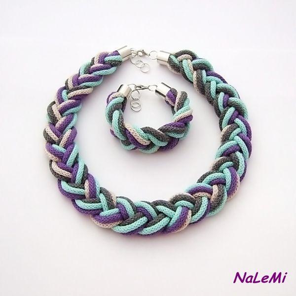 Komplet sznurkowy kolorowy w NaLeMi na DaWanda.com