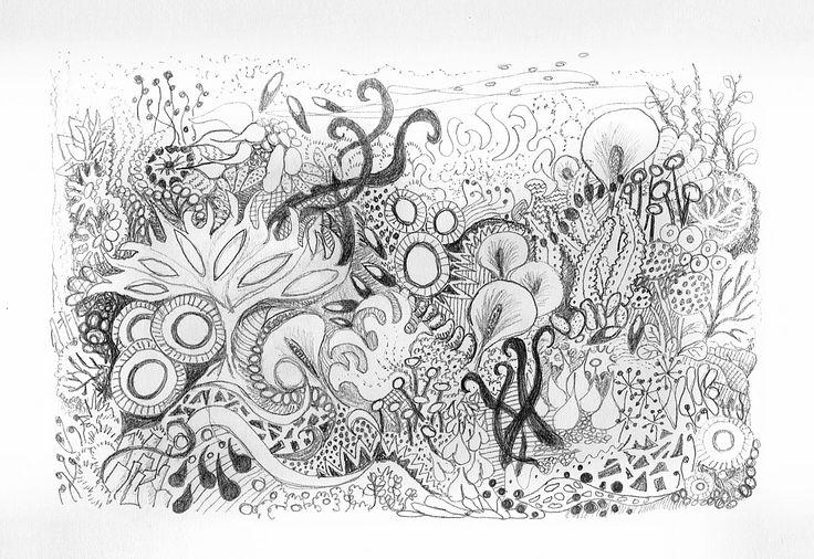 'Doodle Garden' in pencil 2007/8