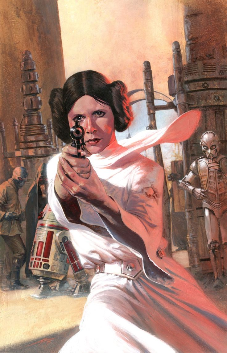STAR WARS : Drawing | Princess Leia ORGANA | By Gabriele DELL'OTTO​ (MARVEL Comics) | STAR WARS : Fan Art