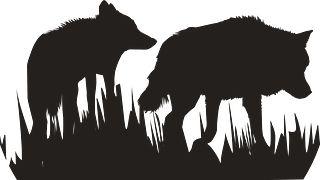 Vargar, Hundar, Silhuetter, Däggdjur