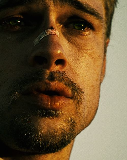 Brad Pitt.   The first rule in the fight club is, there is no fight club.