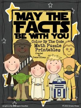 May The Facts Be With You: Color By The Code Math Puzzle Printables