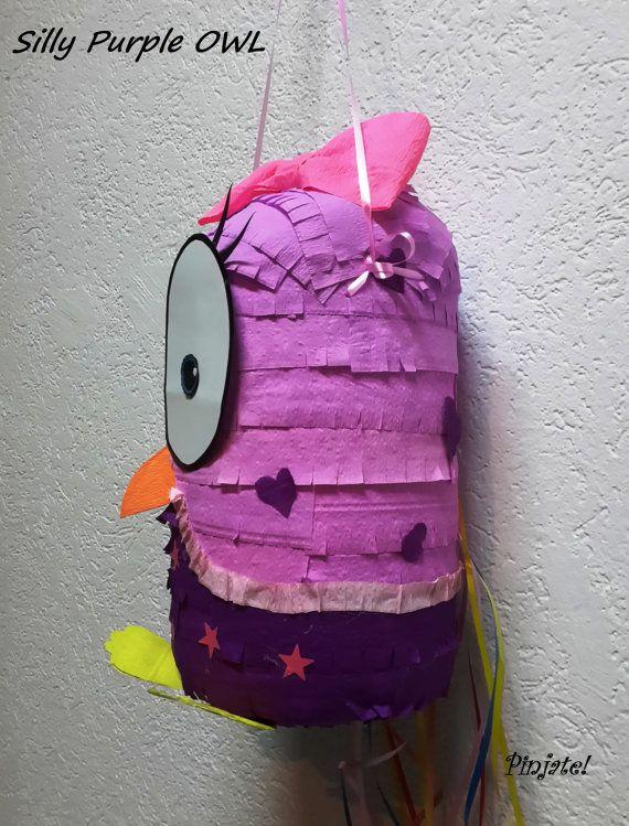 Piñata de buho  púrpura tonto piñata de buho regalo de