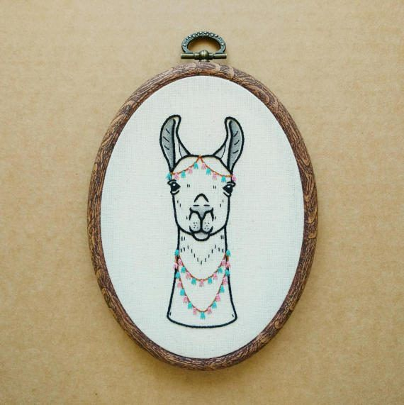 Llama with Tassel Accessories Hand Embroidery Pattern PDF