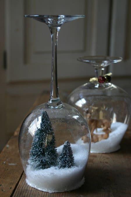 stemware snow globes 2