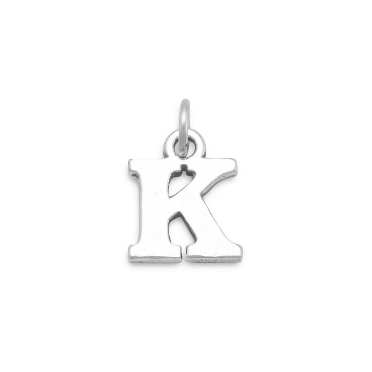 Greek Alphabet Letter Charm - Kappa