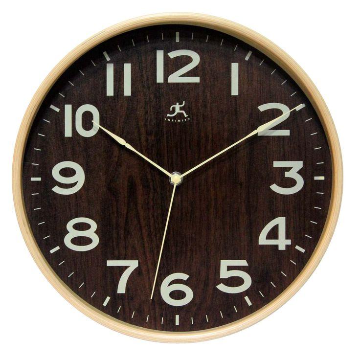 Infinity Instruments Bentwood Small 12 12u0027 Wall Clock