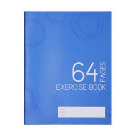 Exercise Book - 64 Pages, Blue