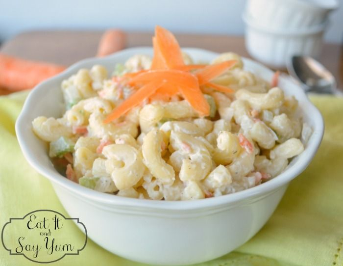 This cool, creamy macaroni salad is the perfect summer side dish!