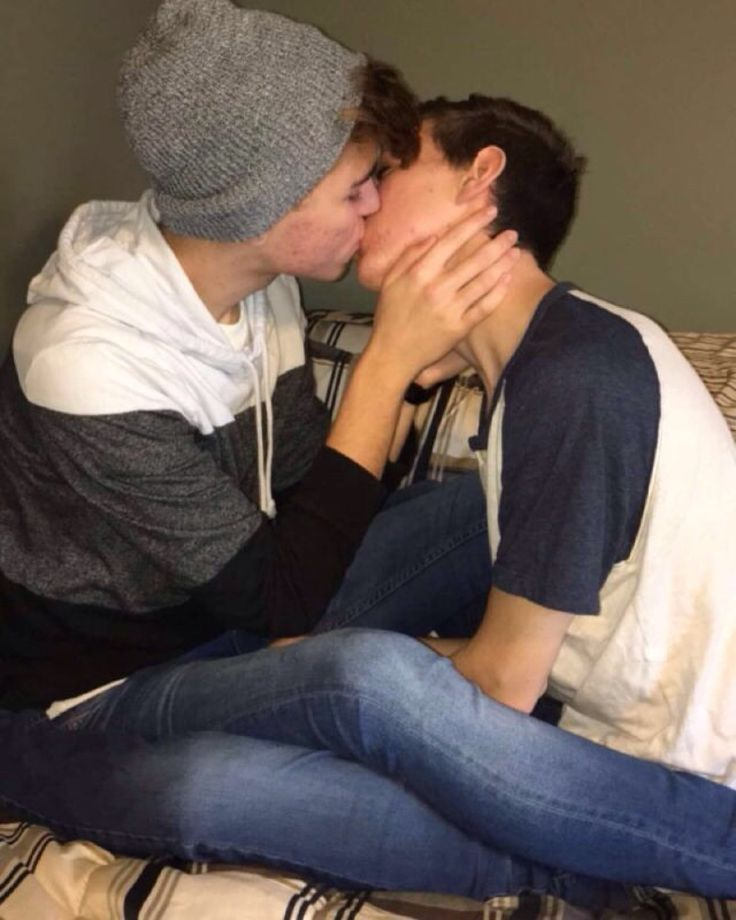 Amateur cute boys kiss