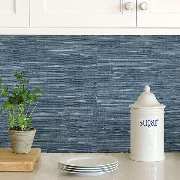 Navy Grassweave Peel And Stick Wallpaper Nuwallpaper Peel And Stick Wallpaper Wallpaper Samples