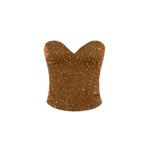 Women's Goddiva Sparkling Beaded Princess Corset Online ($30) ❤ liked on Polyvore featuring tops, corsets, shirts, blusas, circus, beaded corset, sparkly shirts, shirt top, brown shirts and brown corset
