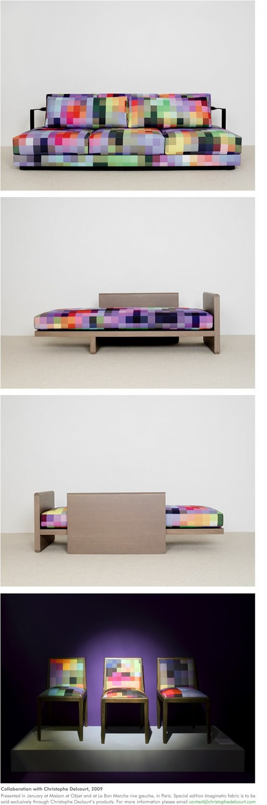 Wish | 8 Bit Furniture Set: Couch, Bed, 3 Chairs - Video Game Decor