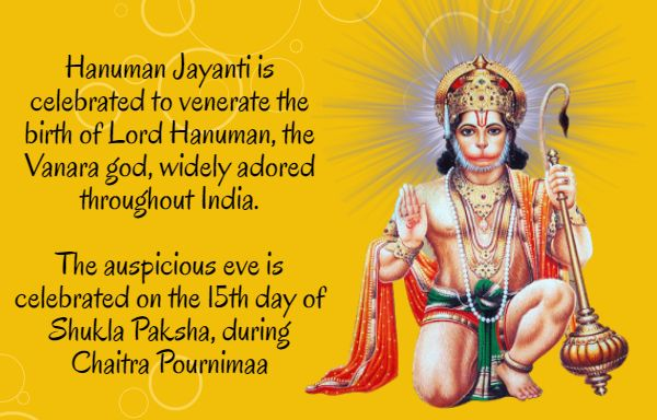 #‎HanumanJayanti‬ is celebrated to venerate the birth of Lord Hanuman, the Vanara god, widely adored throughout India. The auspicious eve is celebrated on the 15th day of Shukla Paksha, during Chaitra Pournimaa ‪#‎BringHomeFestival‬