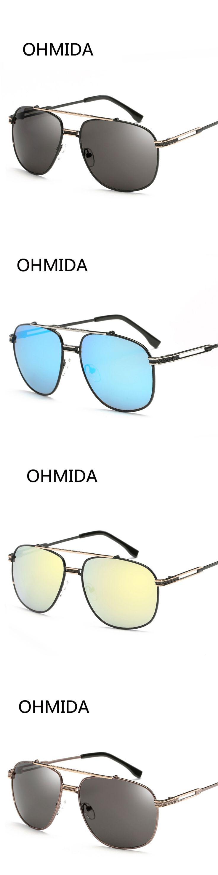 OHMIDA New Fashion Sunglasses Women Brand Designer Driver Vintage Mirror UV400 Retro Sunglasses For Men lunette de soleil femme