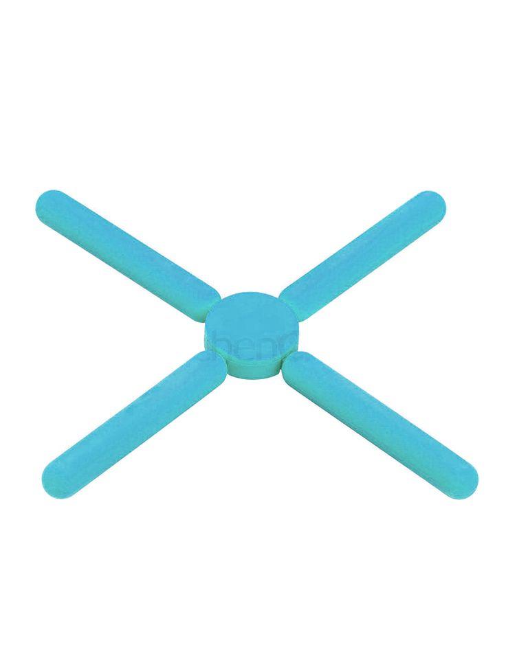 Подставка складная силиконовая KitchenCraft CW голубая
