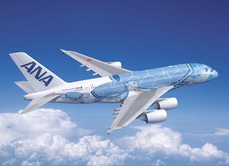"""Livrée """"tortue"""" pour l'Airbus A380, signée ANA"""