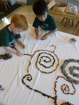 I can see this activity as a nice extension with creating a design with the bead cabinet