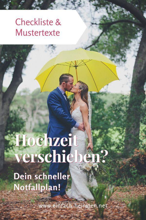 Hochzeit Verschieben Checkliste Mustertexte Hochzeit Hochzeitsplanung Hochzeitsplanung Tipps