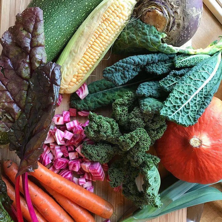 Ferske grønnsaker fra den lokale gårdsbutikken! Nå blir det god middag
