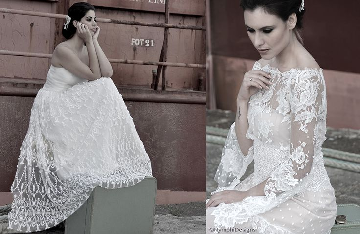 Nymphi create the most strikingly beautiful couture veils, bridal gowns and wedding accessories.