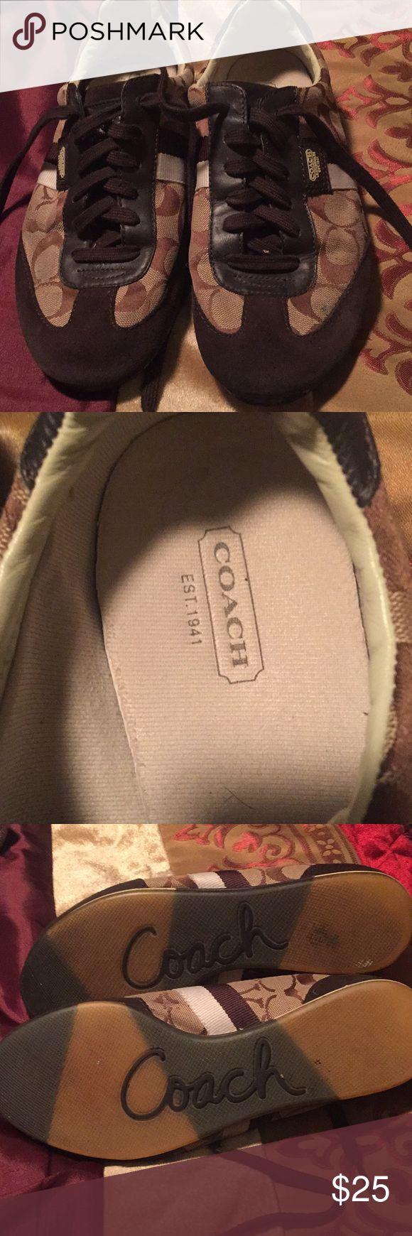 Coach tennis shoes Coach Joss tennis shoes. Good condition Coach Shoes Sneakers